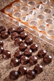 Homemade choclate praline Stock Photography