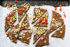 Homemade chocolate bark Royalty Free Stock Photo
