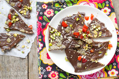 Homemade chocolate bark Stock Photos