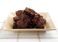 Homemade chocolate brownies Royalty Free Stock Photography