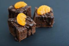 Homemade chocolate brownies Royalty Free Stock Image
