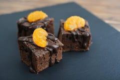 Homemade chocolate brownies Royalty Free Stock Photo