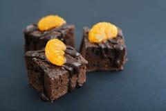 Homemade chocolate brownies Stock Photography