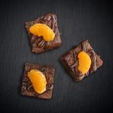 Homemade chocolate brownies Stock Image