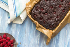 Homemade chocolate brownies Royalty Free Stock Images