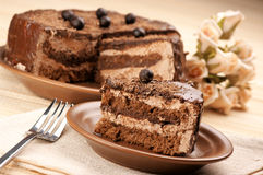 Homemade chocolate cake Royalty Free Stock Photography