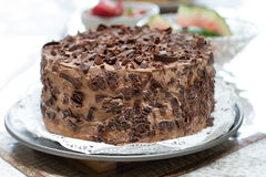 Homemade Chocolate Cake Royalty Free Stock Photos