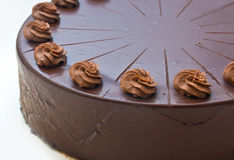 Homemade chocolate cake detail Stock Image