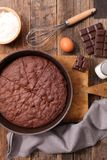 Homemade chocolate cake. With ingredient Stock Image