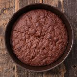 Homemade chocolate cake. Top view Stock Photography