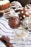 Homemade chocolate cake pops Royalty Free Stock Photos