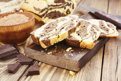 Homemade chocolate cake Zebra Royalty Free Stock Photography