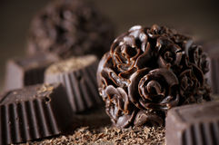 Homemade chocolate candies Royalty Free Stock Photography