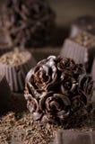 Homemade chocolate candies Stock Photos