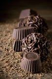 Homemade chocolate candies Royalty Free Stock Photo