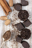 Homemade chocolate candies Stock Image