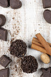 Homemade chocolate candies Stock Photography