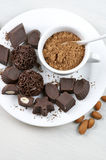 Homemade chocolate candies Stock Photos