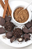 Homemade chocolate candies Royalty Free Stock Photos