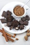 Homemade chocolate candies Stock Image