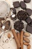 Homemade chocolate candies Stock Photo