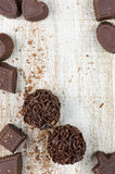 Homemade chocolate candies Royalty Free Stock Image