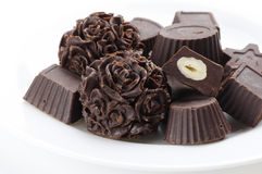 Homemade chocolate candies Stock Images