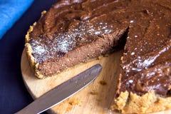 Homemade chocolate cheesecake Stock Photography