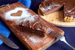Homemade chocolate cheesecake Royalty Free Stock Photos