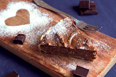 Homemade chocolate cheesecake Stock Image