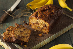 Free Homemade Chocolate Chip Banana Bread Stock Images - 62859964