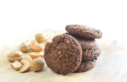 Homemade chocolate chip and cashew nut Stock Photo
