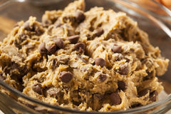 Homemade Chocolate Chip Cookie Dough Stock Image