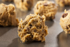 Homemade Chocolate Chip Cookie Dough Stock Photography
