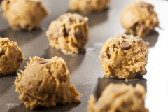 Homemade Chocolate Chip Cookie Dough Royalty Free Stock Photos