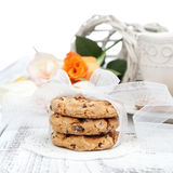 Homemade chocolate chip cookies Royalty Free Stock Photography
