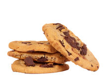 Homemade chocolate chip cookies isolated Stock Images