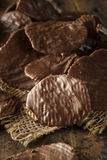 Homemade Chocolate Covered Potato Chips Royalty Free Stock Images
