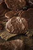 Homemade Chocolate Covered Potato Chips Stock Images