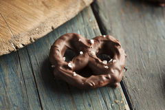 Homemade Chocolate Covered Pretzels Royalty Free Stock Photography