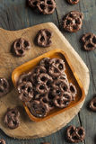 Homemade Chocolate Covered Pretzels royalty free stock images