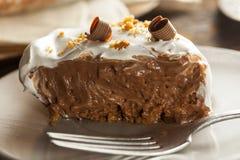 Homemade Chocolate Cream Pie royalty free stock photos