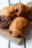 Homemade chocolate croissant Stock Image