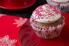 Homemade chocolate cupcakes Royalty Free Stock Image