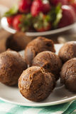Homemade Chocolate Donut Holes Stock Image
