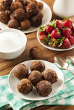 Homemade Chocolate Donut Holes Royalty Free Stock Images