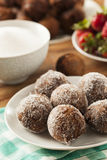 Homemade Chocolate Donut Holes Royalty Free Stock Photography