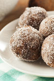 Homemade Chocolate Donut Holes Stock Photo