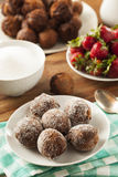 Homemade Chocolate Donut Holes Royalty Free Stock Photo