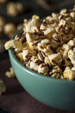 Homemade Chocolate Drizzled Caramel Popcorn. Ready to Eat Royalty Free Stock Photos